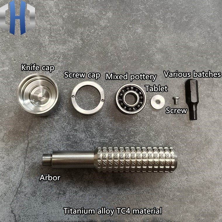 Handmade Titanium Palm Screwdriver Fingertip Screwdriver Screwdriver Gyro 6mm Batch Head EDC Equipment Tool in Outdoor Tools from Sports Entertainment