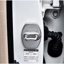 Застежка дверного замка Luhuezu из нержавеющей стали, защитный чехол для Toyota Land Cruiser Prado LC150 LC120, аксессуары