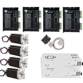 EU Free shipping[3~8days] Stepper Motor 4 Axis Nema 23 23HS9442 2.8N.m Driver DM542A 128Micro CNC Router 3~7 days to EU - DISCOUNT ITEM  10% OFF All Category