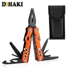 все цены на 11 in 1 Multi Tool Swiss Knife Pocket knife with holder Combination Pliers Metal Outdoor survival Folding blade Knife hand tools онлайн
