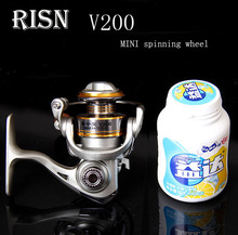 RISN v200 Palm-sized Mini Small fishing reels 6BB 5.2:1 ice Reels raft pole wheel Lures wheel Small Spinning Wheel