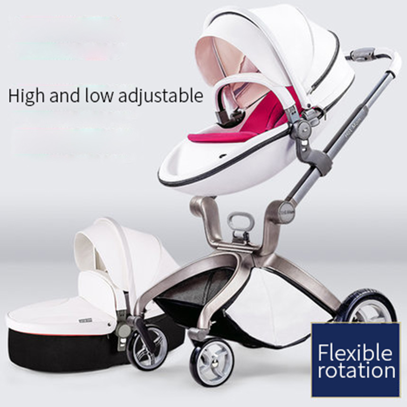 Hot mother baby stroller High landscape cart Can sit and lie down Folding stroller Lightweight trolley Baby cart Two-in-one baby lightweight folding portable high landscape baby cart can sit lie umbrella baby car stroller reverse pushing handle pram 0 36 m