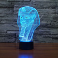 7 Color Holiday Atmosphere Decorative Kids Gift Pharaoh Style 3D Ilusion LED Night Light Desk Table Decor Lamp Novelty Lighting