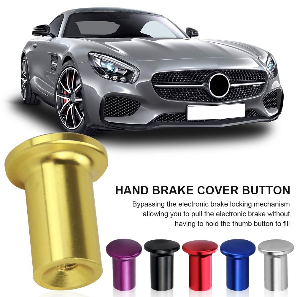 Universal Aluminum Alloy Handle Brake Lever Lock Button E-Brake Drift Auto Part