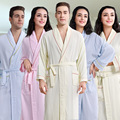 Hot Sale summer long Soft Home waffle cotton Bamboo Bathrobe