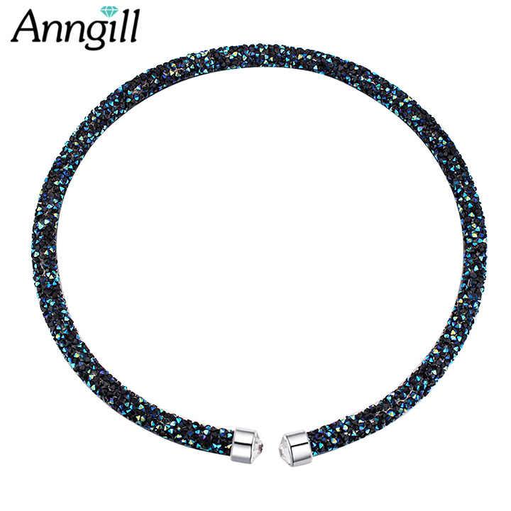 ANNGILL 2018 Fashion Crystal From Swarovski Choker Necklace Women Wedding  Accessories Choker Jewelry Collier Femme Birthday d37709cfed49