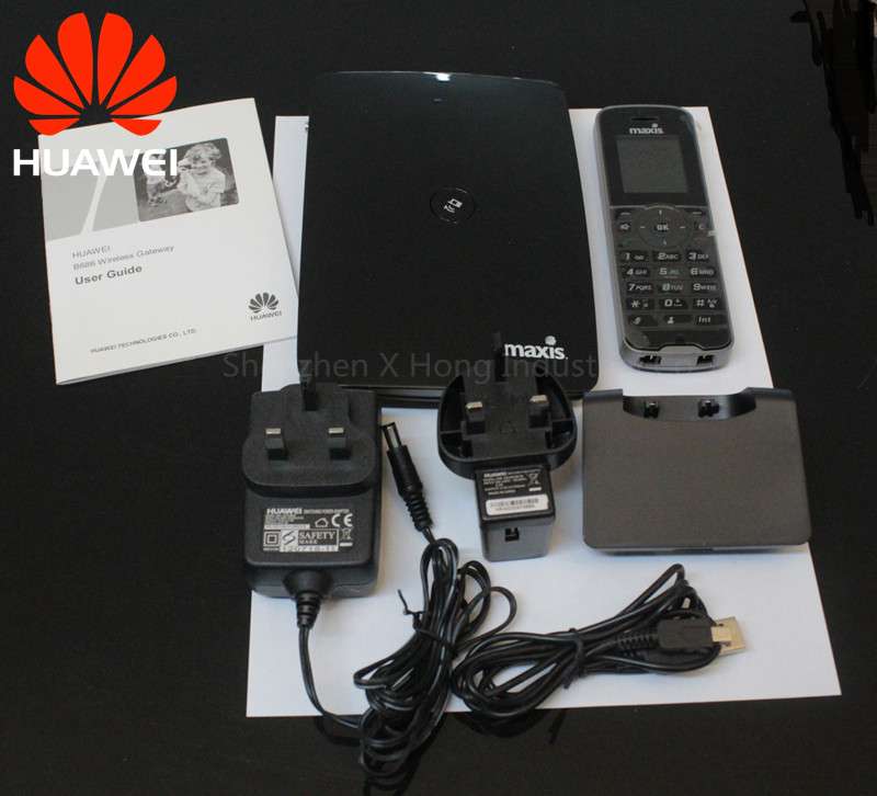 Unlock Huawei B686 3G HSPA+ WCDMA 900/2100Mhz 28.8Mbps Wireless Gateway Mobile Router with telephone PK B683 B681 цена