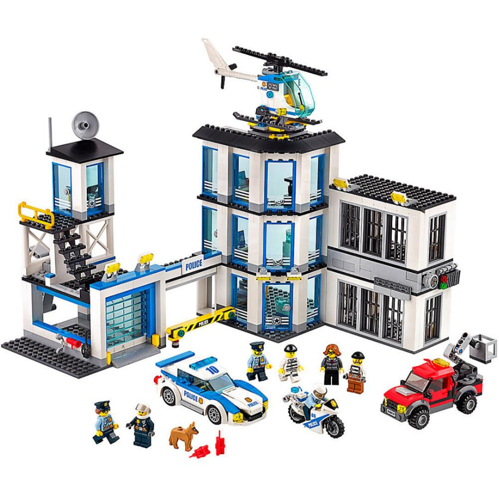 Lepin 02020 965Pcs City Series The New Police Station Set children Educational Building Blocks Bricks Boy Toys Model Gift 60141 lepin 02006 815pcs city series police sea prison island model building blocks bricks toys for children gift 60130