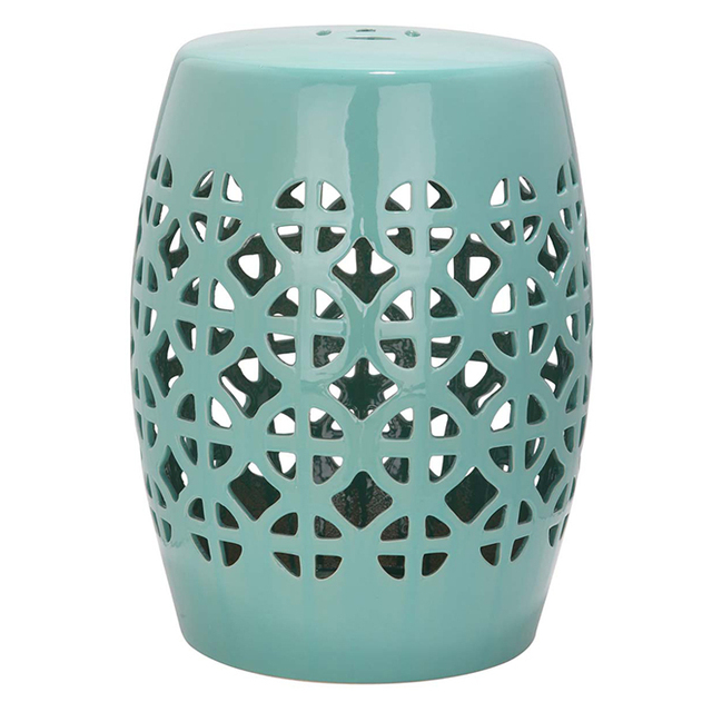 Green And White Color Jingdezhen Antique Home Drum Porcelain Garden Stool  High Temperatured Glazed China Ceramic