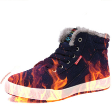 Men Shoes Winter Boots High-top Ankle Snow Boots Large Size 39-48 Fashion Sneakers Fur Boots Lace-up Casual Men Outdoor Shoes недорого