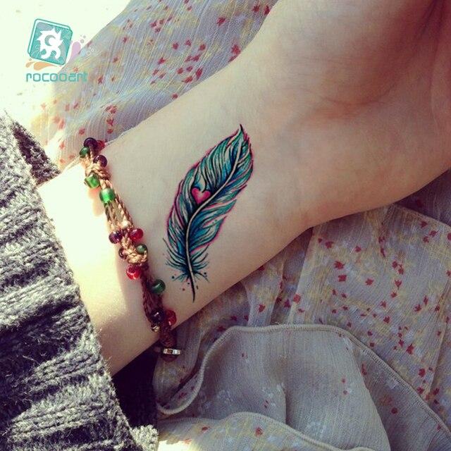 Super Beautiful Feather Dandelion Arrow Tattoo Designs Waterproof Body Temporary Fake Arm Back Tatoo Sticker