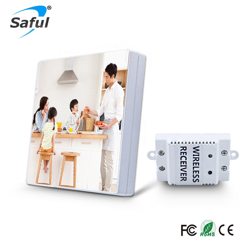 Saful DIY Painting Touch Screen Wall Switch 1 Gang 1 Way Crystal Glass Switch Remote Wireless Touch Switch Free Shipping eu us smart home remote touch switch 1 gang 1 way itead sonoff crystal glass panel touch switch touch switch wifi led backlight