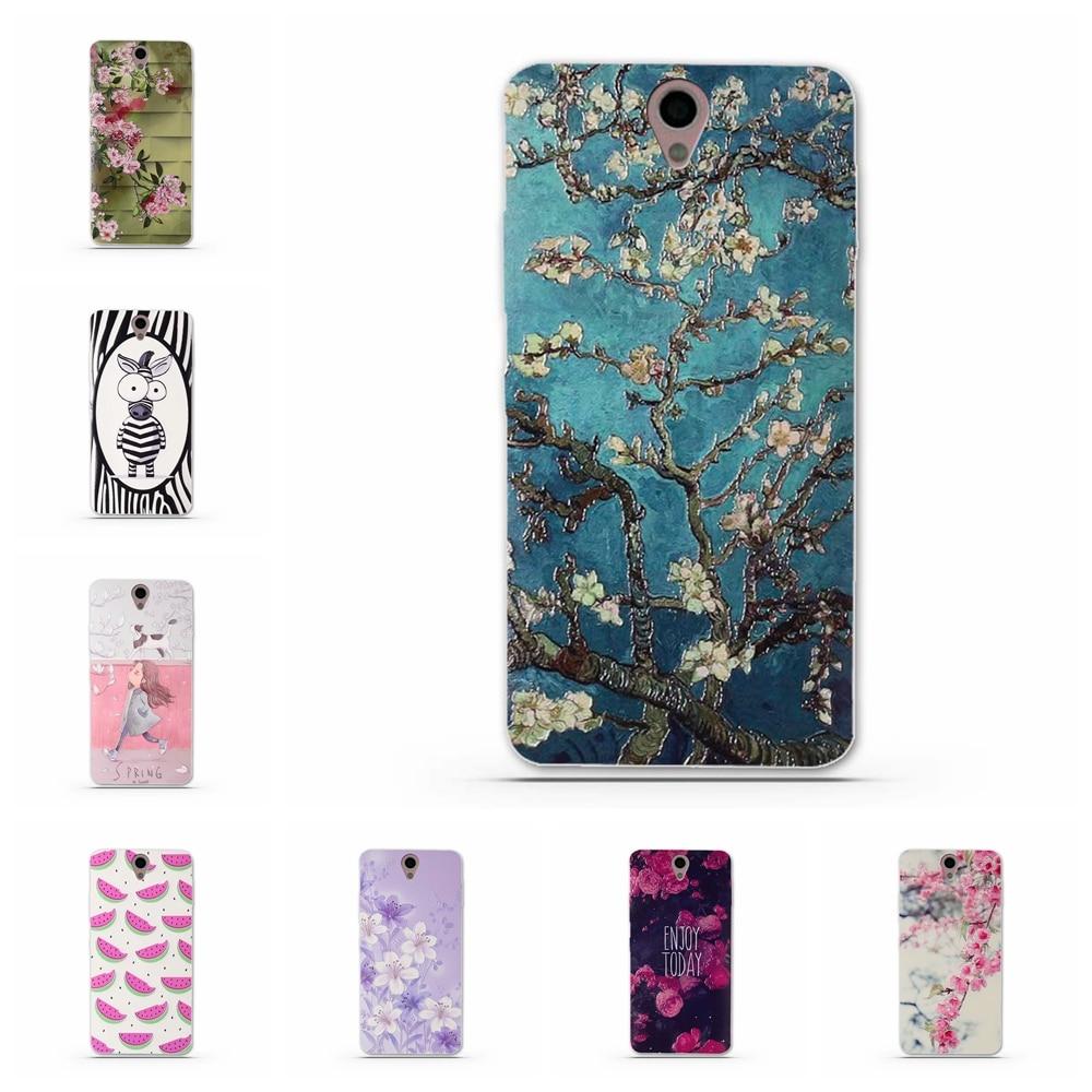 Case cubierta para lenovo vibe s1 del teléfono tpu suave silicona flores animale