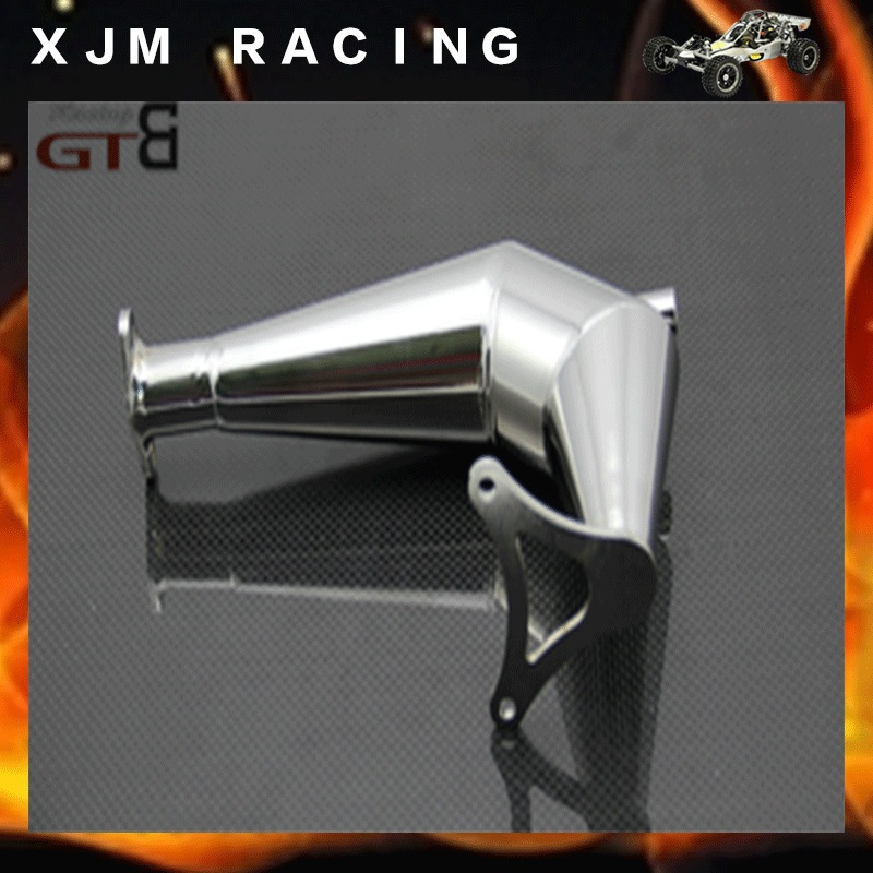 GTB Racing V-model exhaust pipe for 1/5 rc car hpi rovan baja 5b/5t/5sc parts flywheel magneto fits 23cc 26cc 29cc 30 5cc cy fuelie engine for 1 5 hpi baja 5b 5t sc km rovan rc car toy parts
