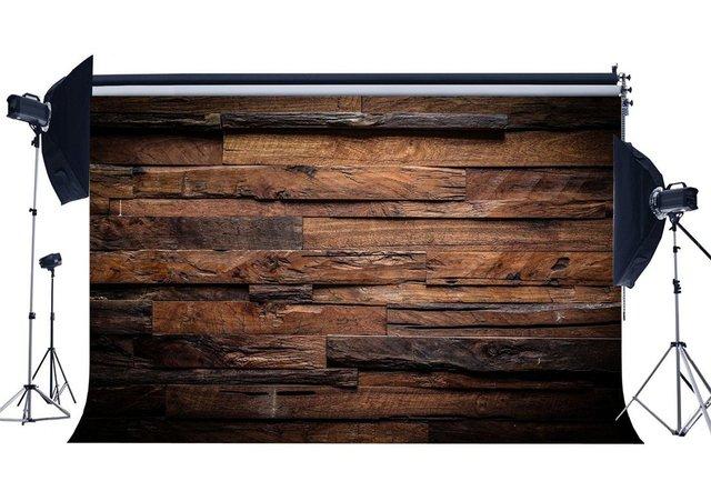 Fondo de fotografía de suelo de madera de rayas Vintage con textura desgastada de tablón de madera rústica