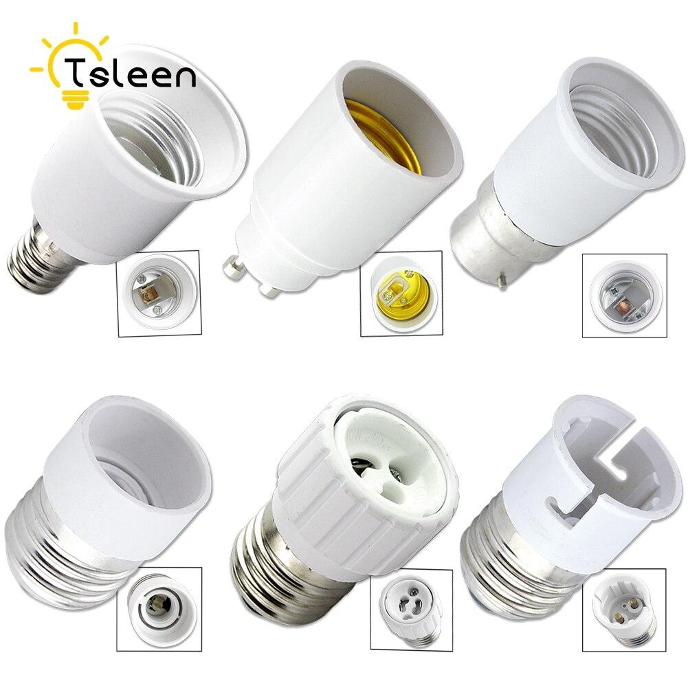 TSLEEN 1PCS Adapter Conversion E27 to E14 lamp Holder Converter Socket Lamp Holder Light Corn Bulb Base Type Splitter Adapter