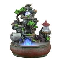 220 В/110 В Смола скала пейзаж фэн шуй фонтан украшения дома Waterscape распылитель очистки воздуха свадебные подарки