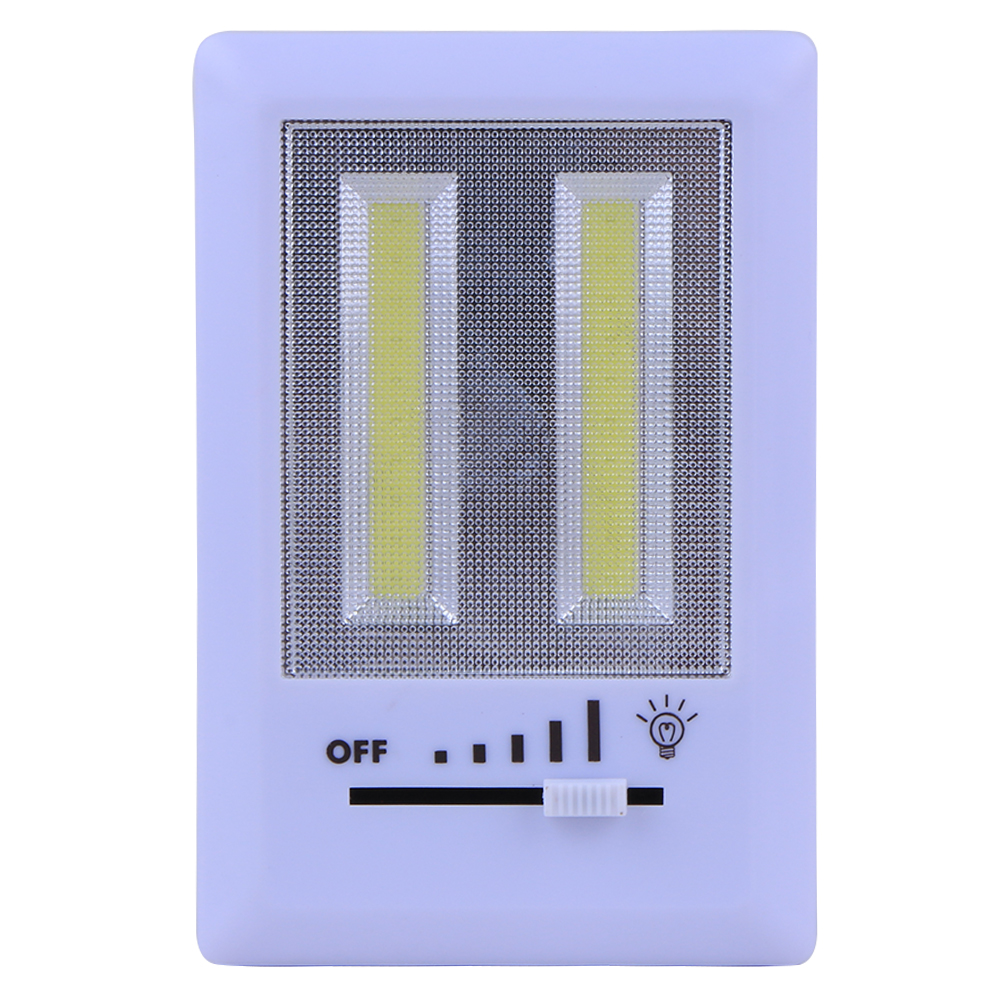 Dual High Light COB Slide Switch Home Wall Kids Room Bathroom Garage Cabinet Night Light ...
