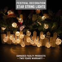 10M LED String Light AC220V Holiday lights Waterproof Fairy Lights garland Outdoor Home Balloon Type Copper Wire Lamp