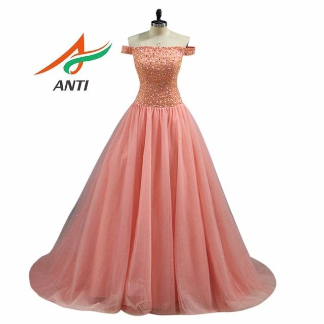 9810f4f33 ANTI elegante naranja Quinceañera Vestidos De lujo Cordón De Vestido De 15  anos Vestidos De quinceañeras