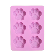 New Silicone 6 Holes Cat Claws Shape Cake Decorating Bakeware Tool Soap Chocolate Kitchen Cooking Mold 18.5*14*1.5cm