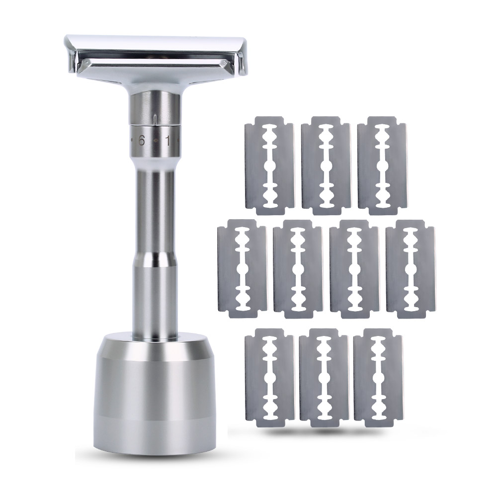 Razor Mens Adjustable Shaving Double Edge Classic Safety Razor Blade Exposure Six Levels