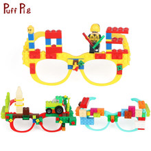 New Glasses Frame Baseplate Building Blocks Compatible Legoed Minecraft Technic Base Plate Glasses Frame Bricks Toys For Child(China)