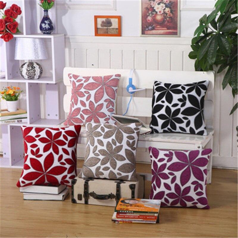 Luxury Cushion Cover Pillow Case Home Textiles supplies Lumbar Pillow chenill Fabric decorative throw pillows chair seat
