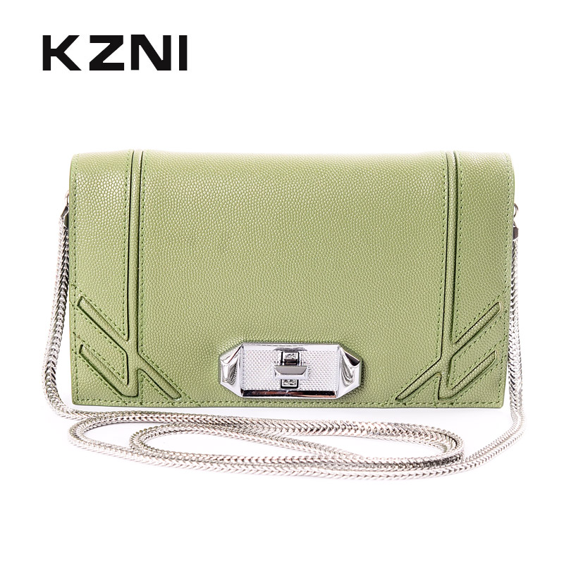 KZNI Crossbody Bags for Women Chain Bags for Women Leather Purses and Handbags High Quality Pochette Sac a Main Femme 9018 kzni genuine leather purses and handbags bags for women 2017 phone bag day clutches high quality pochette bolsa feminina 9043