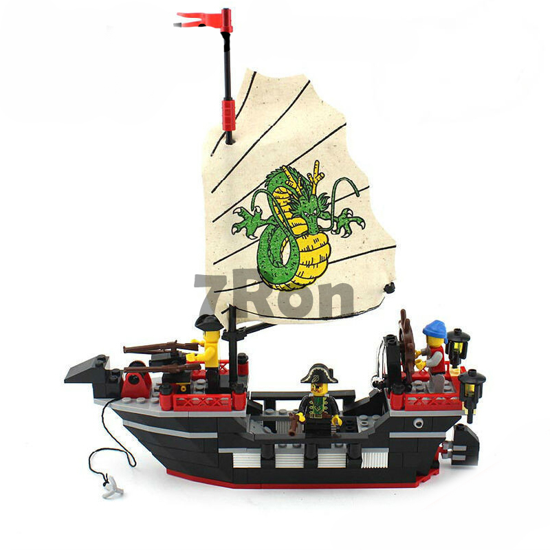 Model building kits compatible with lego blocks city pirate 835 3D Educational bricks toys hobbies for children