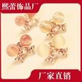 Exquisite  bowknot pearl earrings Opal earrings