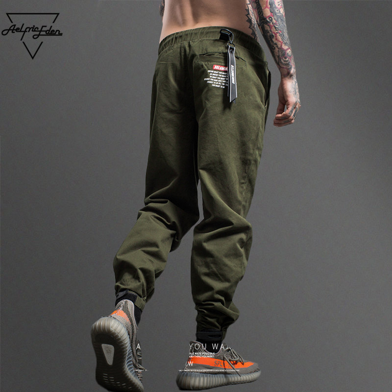 Aelfric Eden Camouflage Tactical Cargo Pants Men Joggers Military Justin Bieber Casual Pants Hip Hop Ribbon Streetwear Trousers
