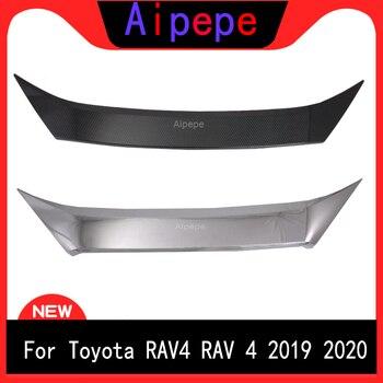 עבור טויוטה RAV4 2019 2020 חדש ABS סיבי פחמן פגוש קדמי גריל הוד מנוע כיסוי Trims