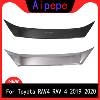 For TOYOTA RAV4 2019 2020 NEW ABS Carbon Fiber Front Bumper Grille Hood Engine Cover Trims