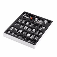 OUTAD 32pcs/set Feet Foot Presser knitting needle Domestic Sewing Machine Braiding Blind Stitch Darning For Brother Singer Janom