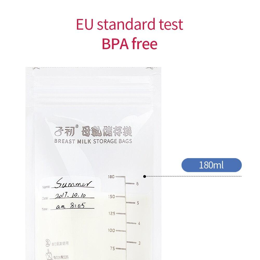 30pcs Breast Milk Storage Bags Freezer Baby Leak Proof Secure Seal Y