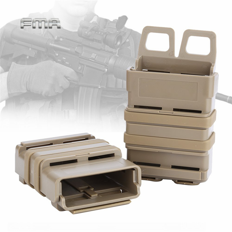 1 Pc Tactical Fast Mag Attach Belt Magazine Pouch 5.56 Molle Holster Durable Kit