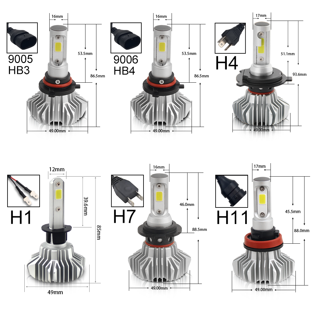 BraveWay 12000LM 2nd COB Led Lamp H4 H7 H1 H11 HB3 HB4 9005 9006 Led Headlight Car Led Bulb H4 Headlight for Cars Auto Led Light in Car Headlight Bulbs LED from Automobiles Motorcycles