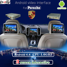Multimedia Video Interface Android Navigation , Headrest Dispaly , Mobile Phone Mirrorlink For Porsche