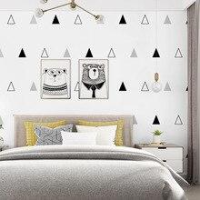 10m long 53cm wide Nordic style wallpaper modern minimalist cute triangle bedroom childrens room boy girl Korea
