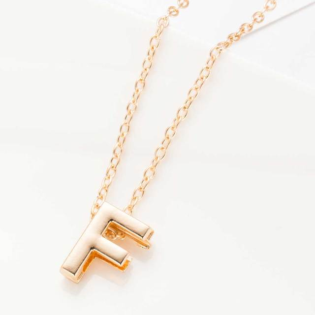 2016 new hot sale fashion Women's Metal Alloy DIY Letter Name Initial Link Chain Charm Pendant Necklace N125