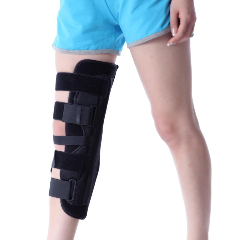 Healthsweet 1Pcs Keen Brace Leg Support Brace Wrap Protector Knee Pads Kneepads Orthopedic Adjustable Orthosis Meniscus Fixation adjustable sport magnetic keen protection pad brace black