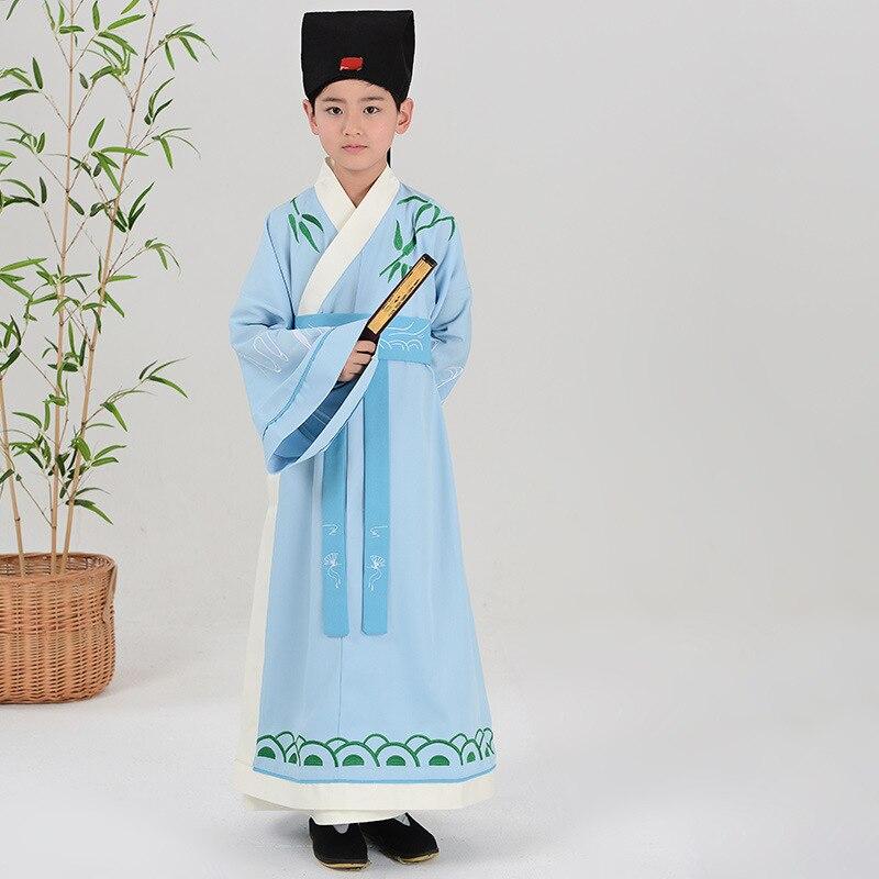 Enfants Costume traditionnel garçon Hanfu Robe vêtements enfants Tang dynastie antique chinois danse folklorique Costumes tenue