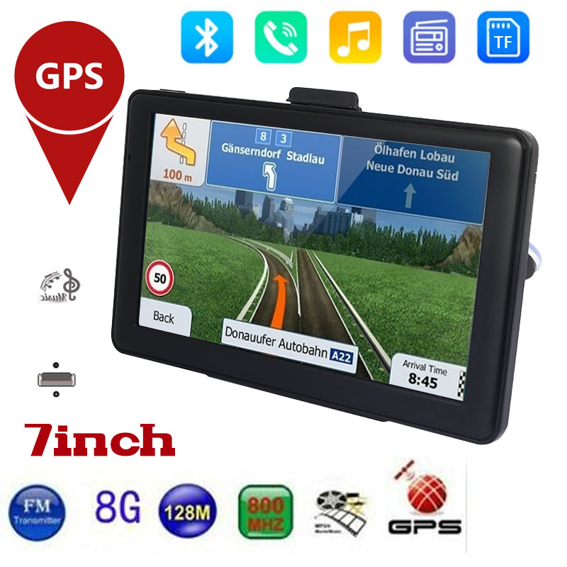2019 New 7inch Car GPS Navigation FM Bluetooth Touch