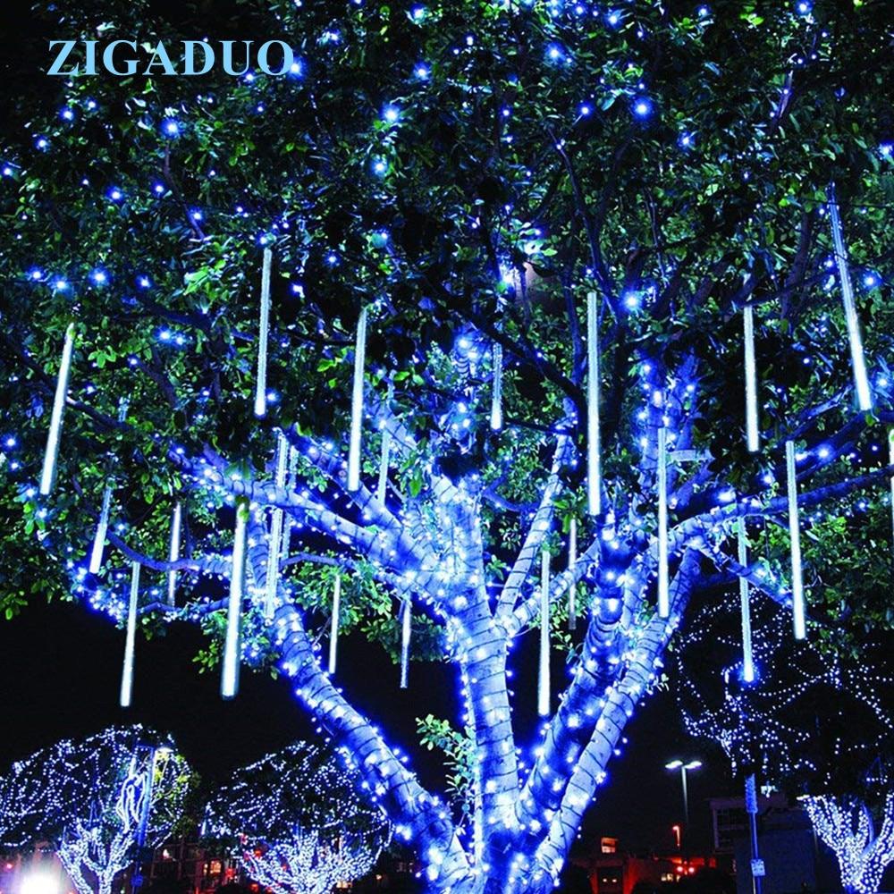 LED 30CM 50CM Lights String Meteor Shower Rain Tube Garland Christmas Tree Garden Decorative Xmas Outdoor Fairy цена