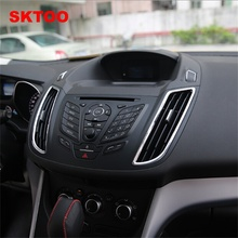 SKTOO  2Pcs Car Chrome Interior Dashboard / Control panel Air Condition Vent Cover Outlet Trim for Ford KUGA ESCAPE 2013 201