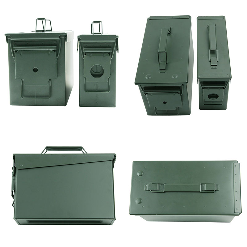 Metal Ammo Case Can Waterproof Military and Army Solid Steel Holder Box for Long-Term Bullet Valuables Storage (3)