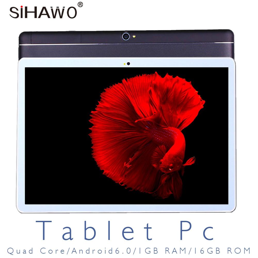 10.1 Inch 1920*1200 Tablet PC MT6580 Quad Core Android 6.0 1GB RAM 16GB ROM Dual SIM 3G Phone Tablets 2.4G+5G Wifi GPS Bluetooth