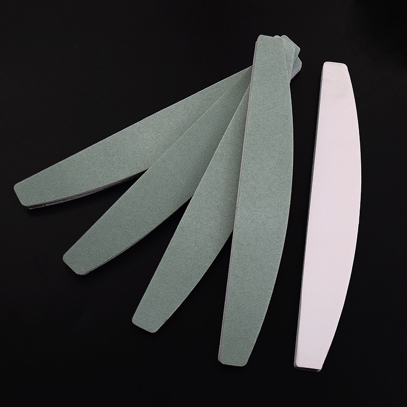 5pcs Moon Design Nail Buffer Block Sponge Nail Buffers 600/4000 Grit Adhensive Sanding Blcoks Nail Polish Tools Manicure Sets цены