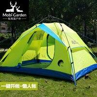 Outdoor antivento 3-4 persona tenda da campeggio automatica tenda di campeggio di picnic viaggi in Auto